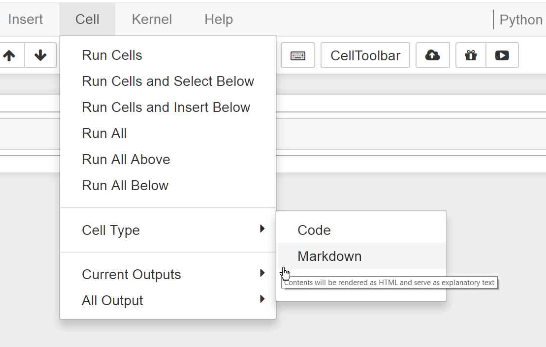 Format cell button on Jupyter GUI
