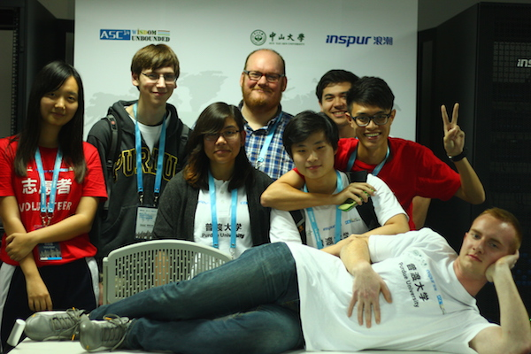 Team at the end of the competition