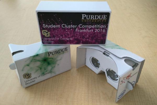 Custom-made Google Cardboard virtual reality glasses