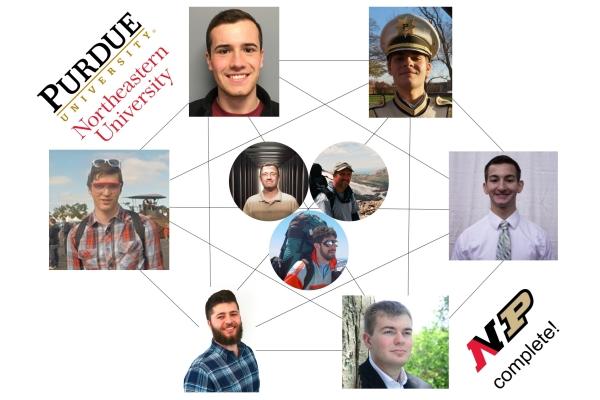 Purdue-Northeastern team network diagram